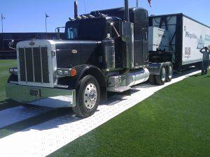 Am-truck på DuraDeck kjøreplater