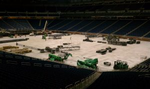 Ford Field with Crane