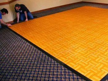 Practical mobile dance floor