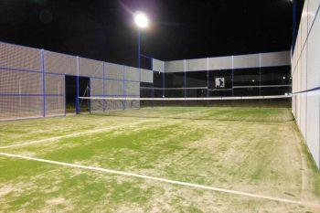 Outdoor padel court
