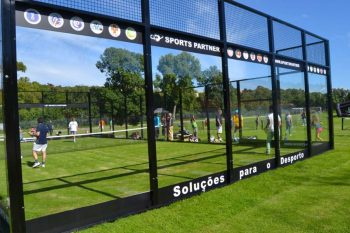 Outdoor padel court with borders